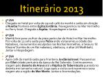 itiner rio 20131