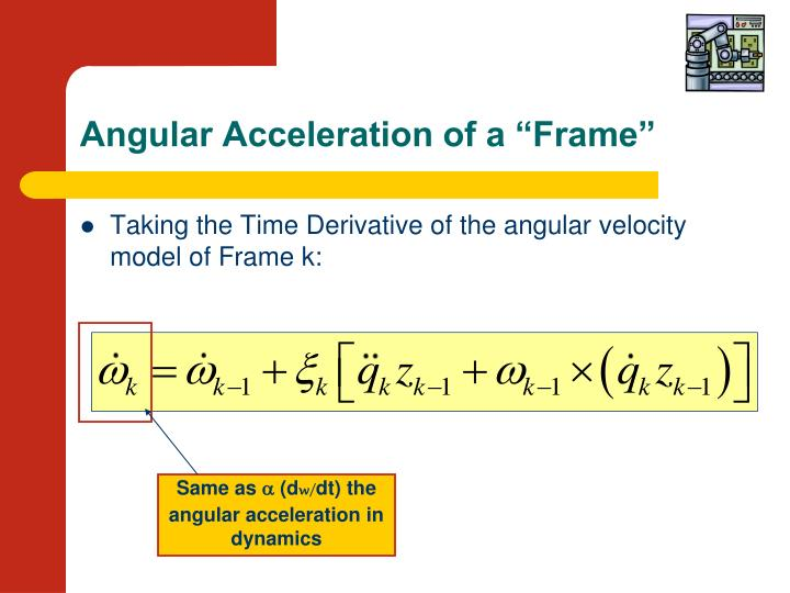 "Angular Acceleration of a ""Frame"""