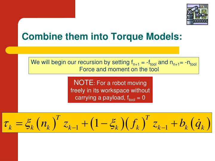 Combine them into Torque Models: