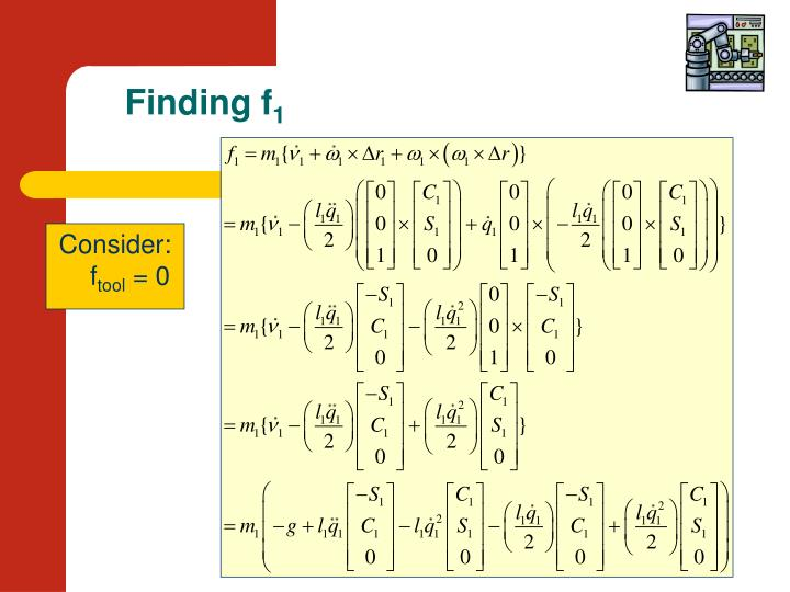 Finding f