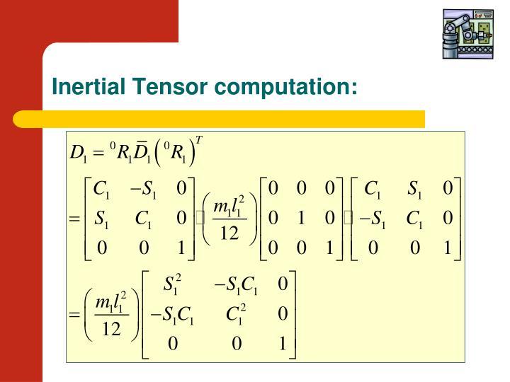 Inertial Tensor computation: