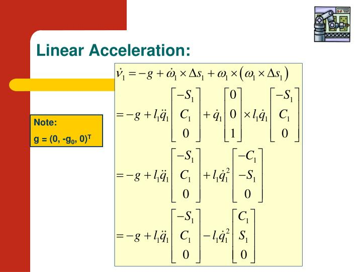 Linear Acceleration: