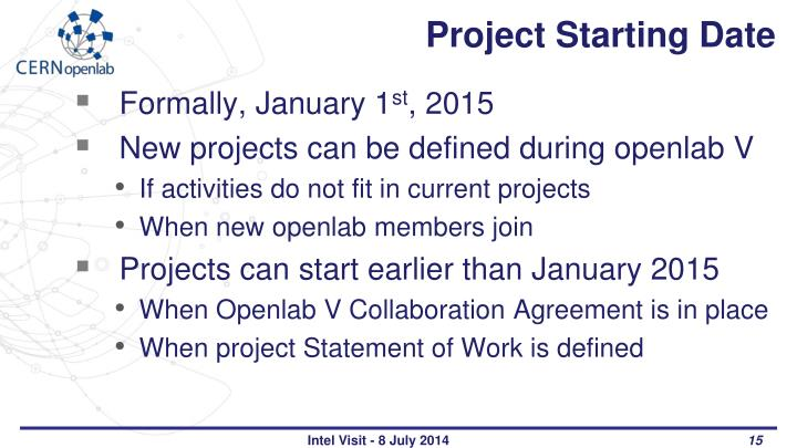 Project Starting Date