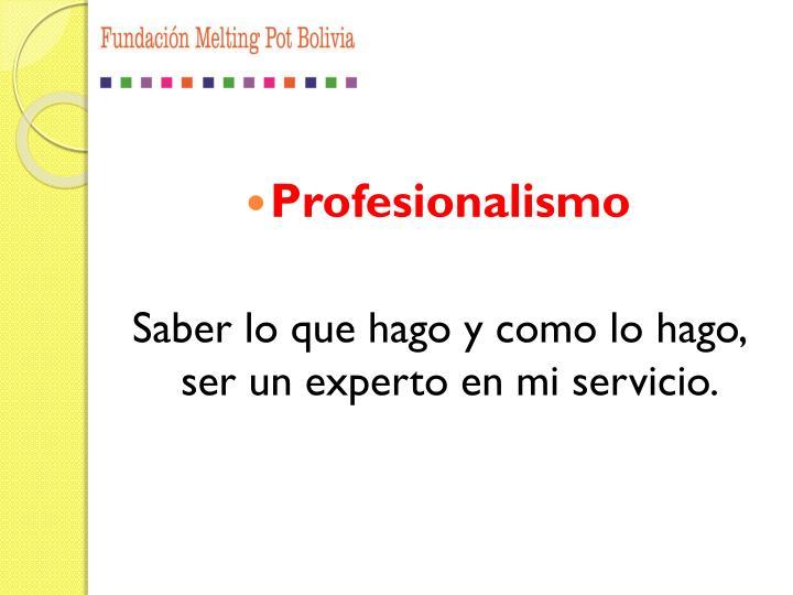 Profesionalismo