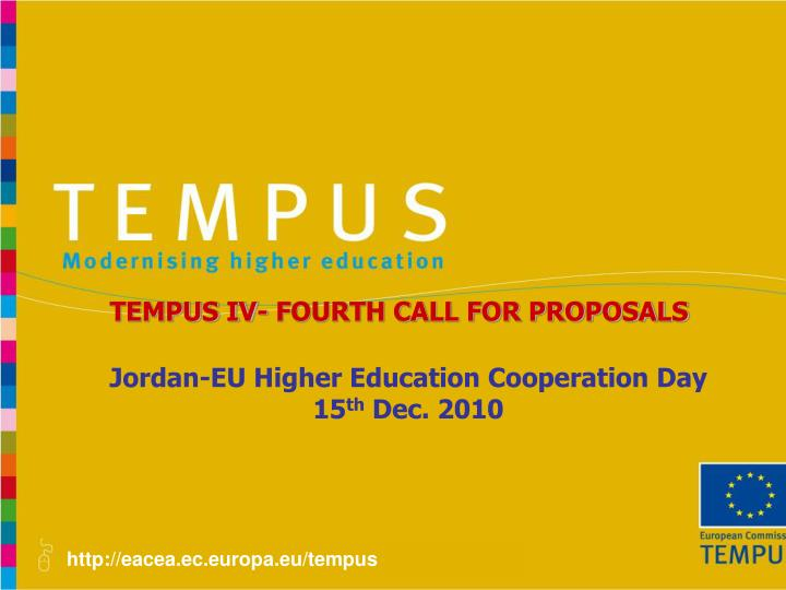 TEMPUS IV- FOURTH CALL FOR PROPOSALS