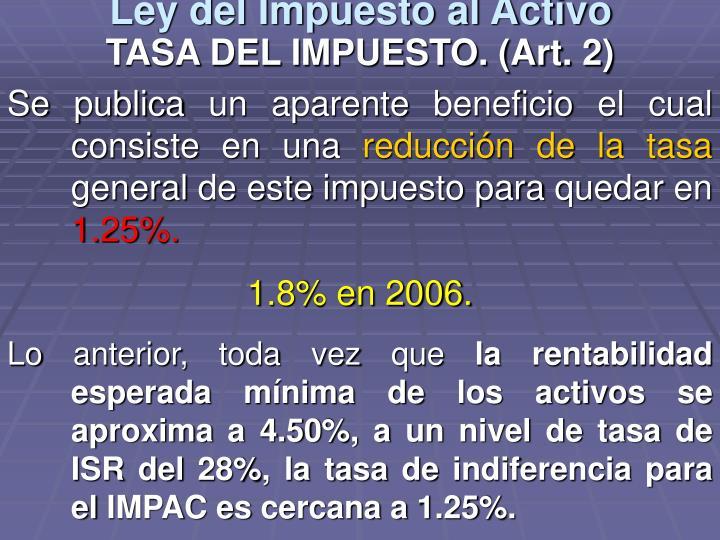 Ley del Impuesto al Activo