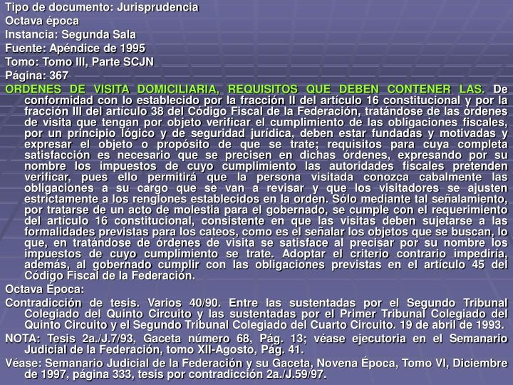 Tipo de documento: Jurisprudencia