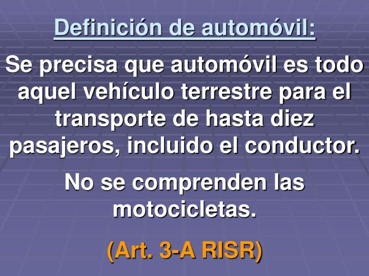 Definición de automóvil: