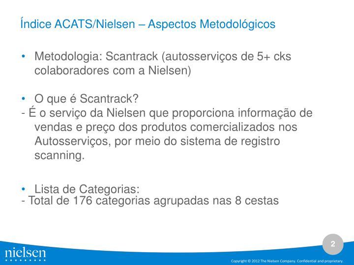 Índice ACATS/Nielsen – Aspectos Metodológicos