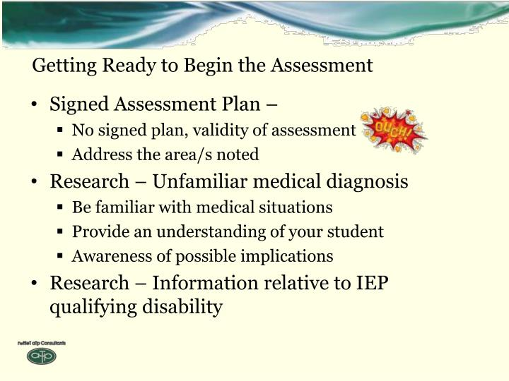 Getting Ready to Begin the Assessment