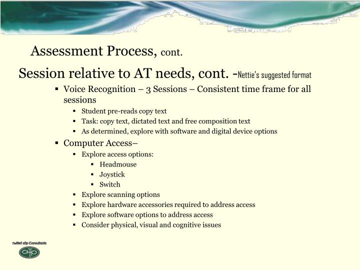 Assessment Process,