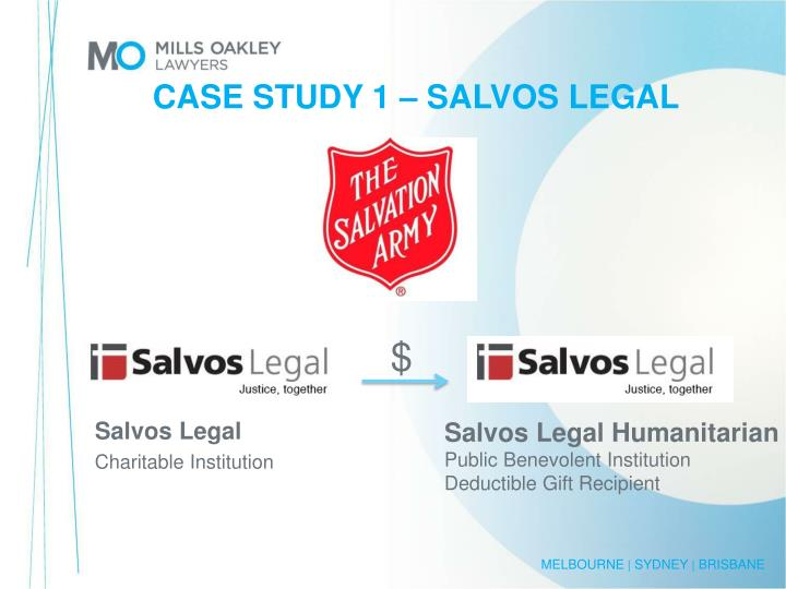 CASE STUDY 1 – SALVOS LEGAL