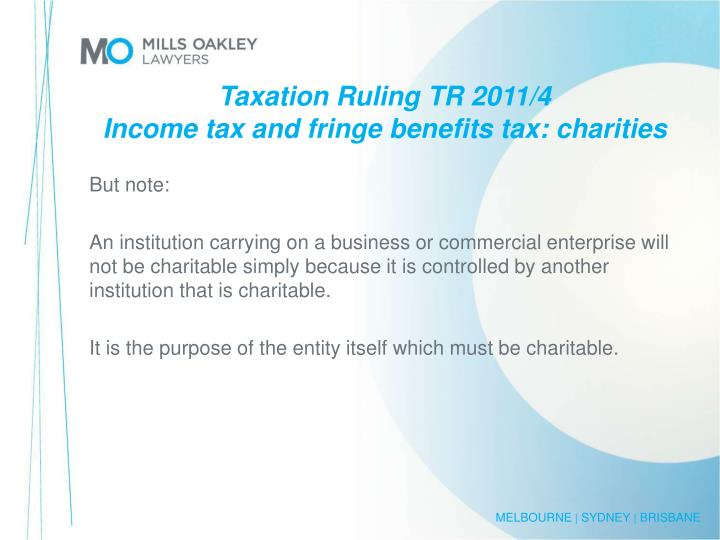 Taxation Ruling TR 2011/4