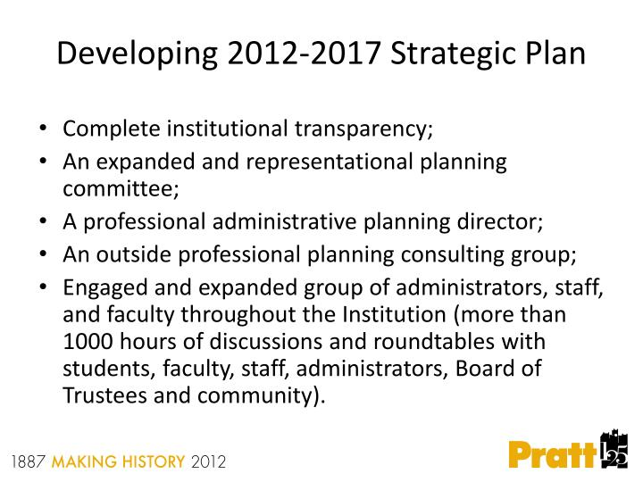 Developing 2012-2017 Strategic Plan