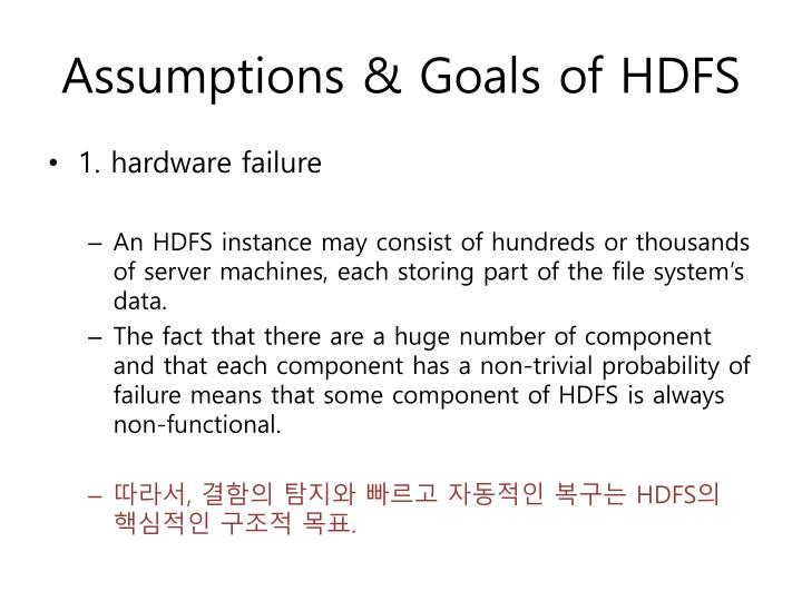 Assumptions & Goals of HDFS
