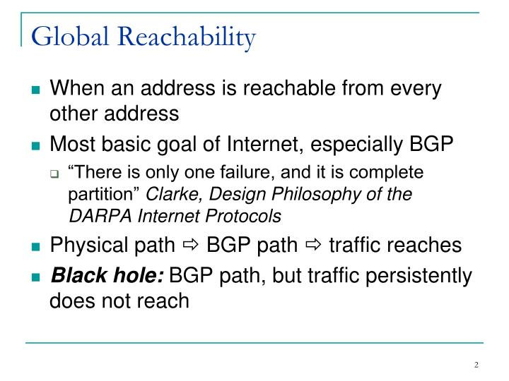 Global reachability