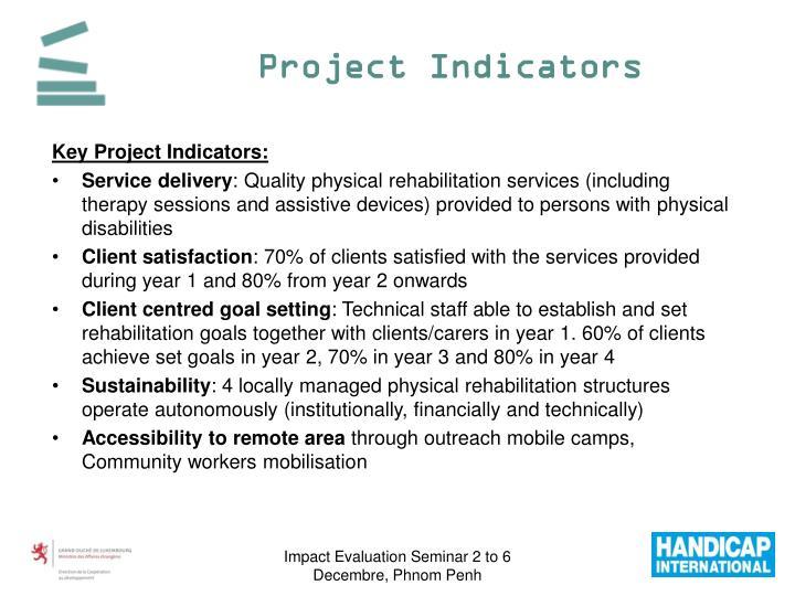 Project Indicators
