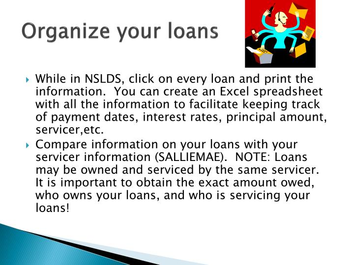 Organize your loans