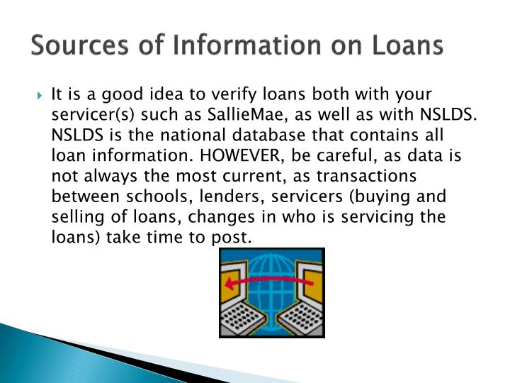 Sources of Information on Loans