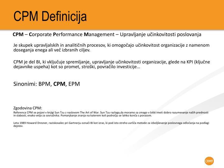 CPM Definicija