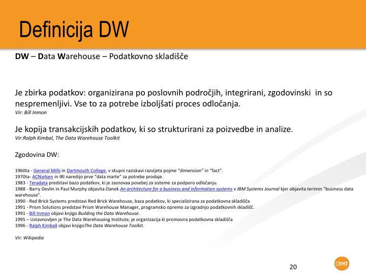 Definicija DW