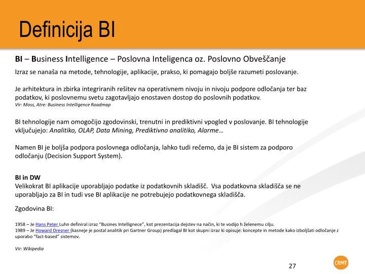 Definicija BI