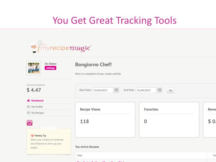You Get Great Tracking Tools