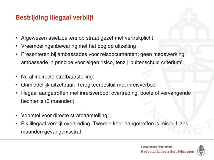 Bestrijding illegaal verblijf