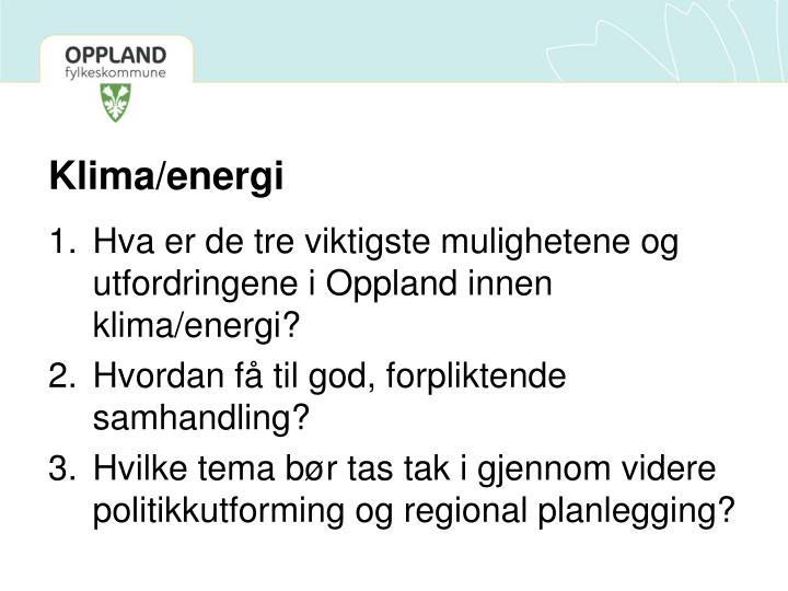 Klima/energi