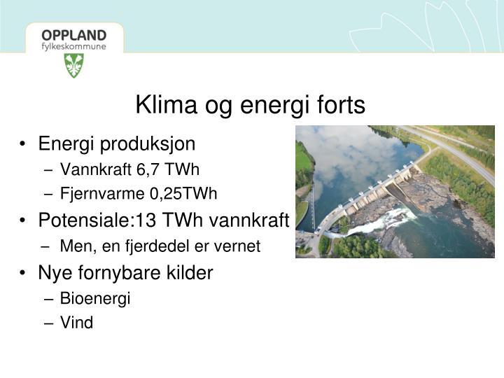 Klima og energi forts