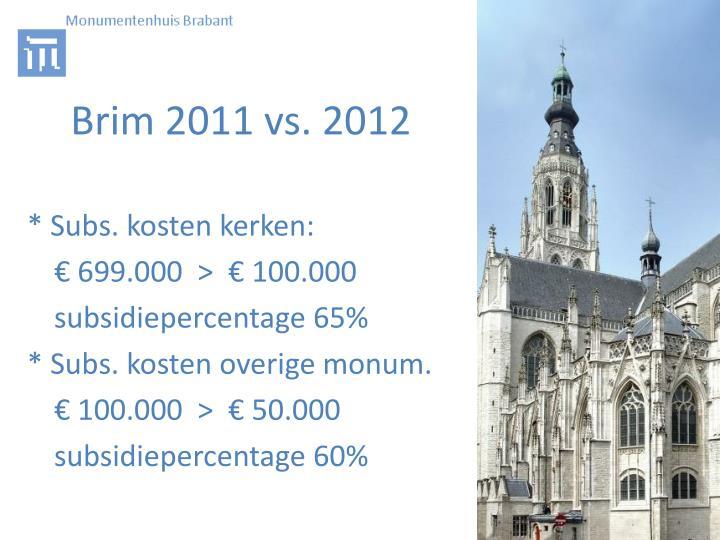 Brim 2011 vs. 2012