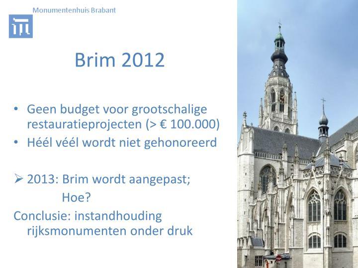 Brim 2012