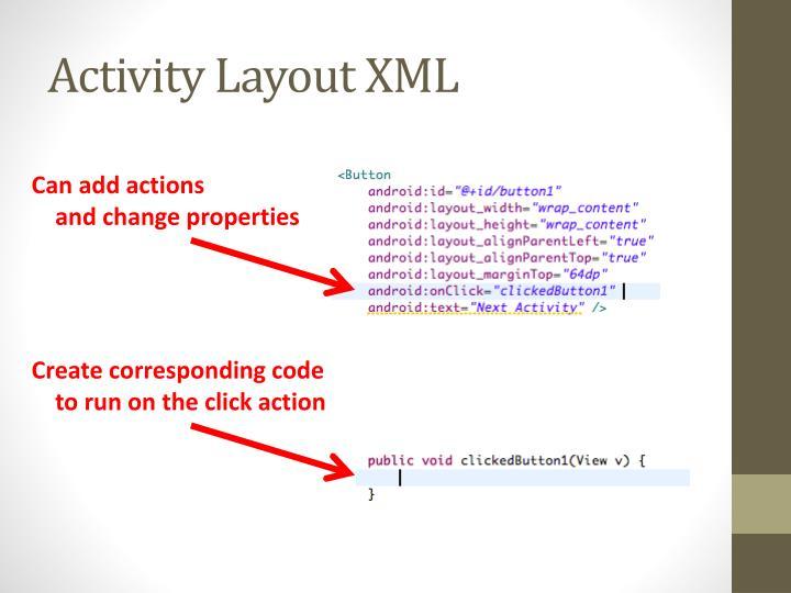 Activity Layout XML