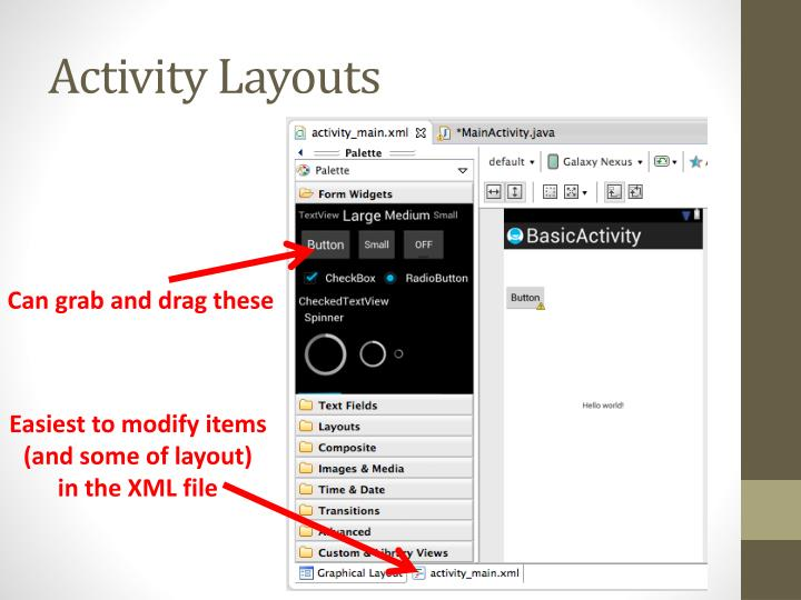 Activity Layouts