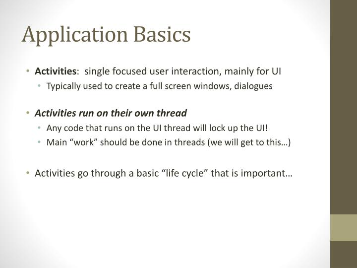 Application Basics