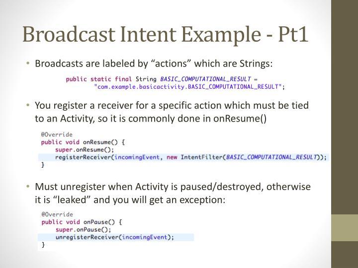Broadcast Intent