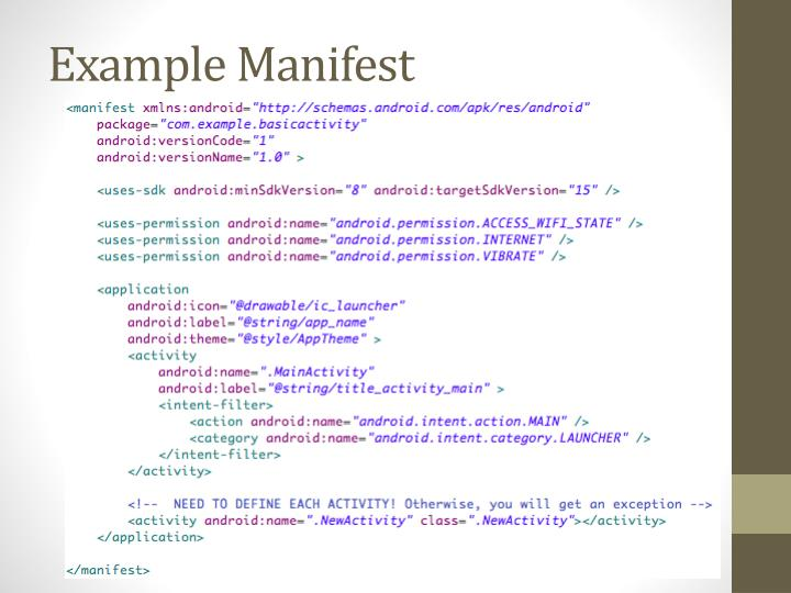 Example Manifest
