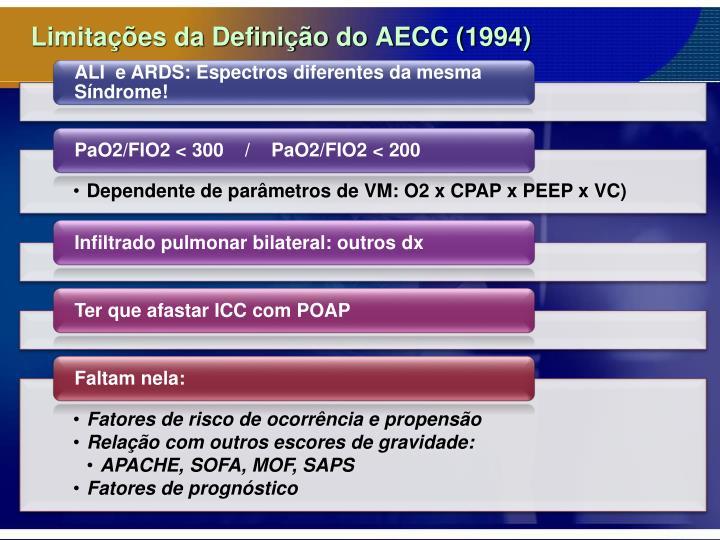 Limitações da Definição do AECC (1994)