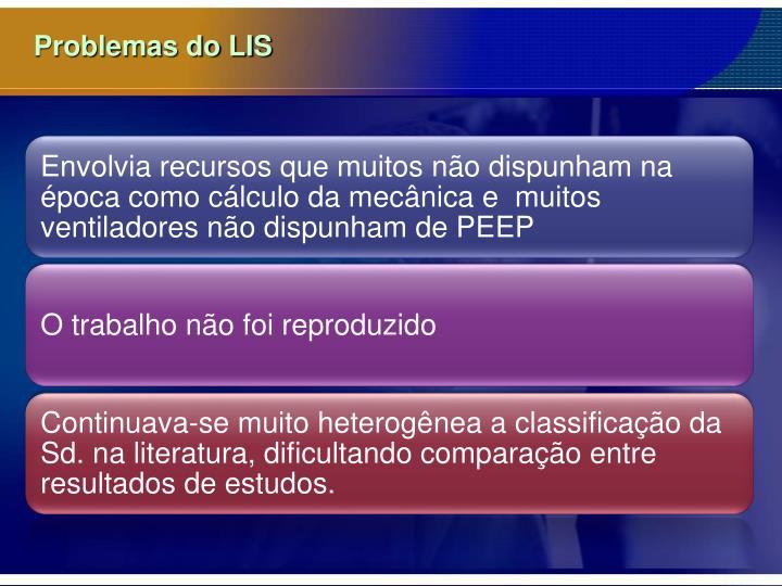 Problemas do LIS