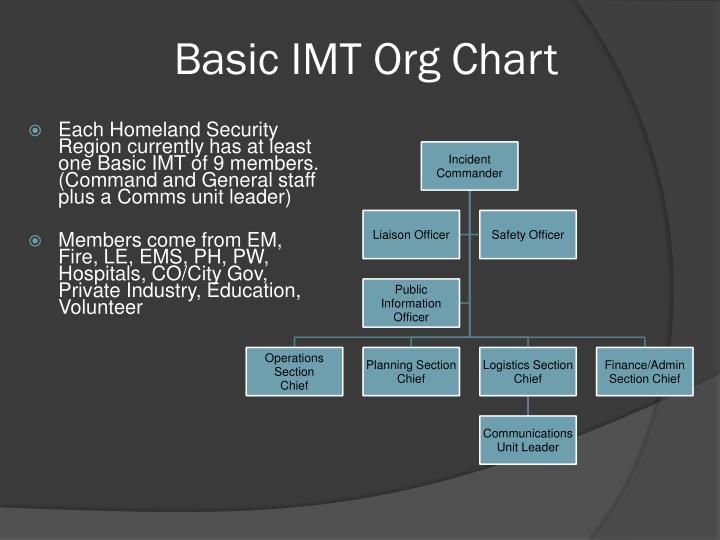 Basic IMT Org Chart