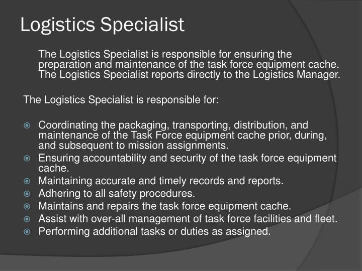 Logistics Specialist