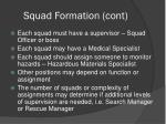 squad formation cont