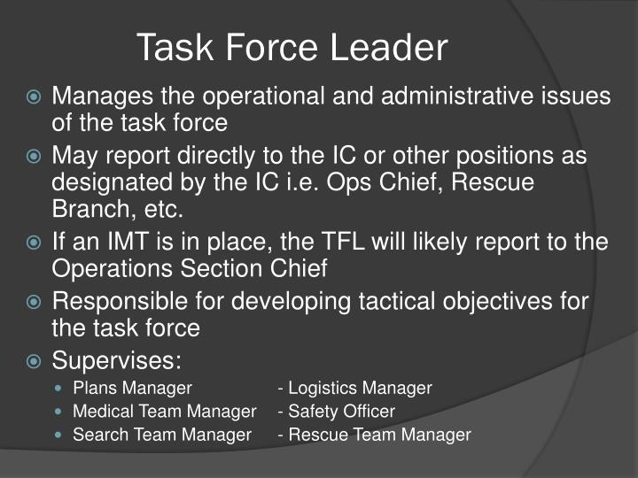 Task Force Leader