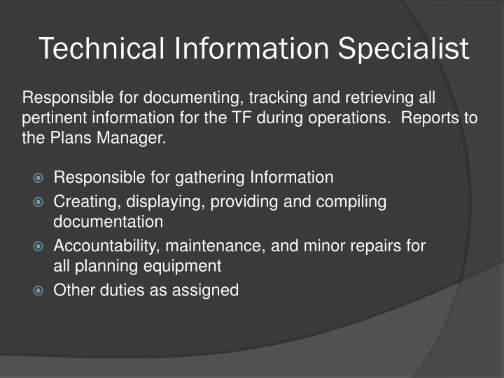 Technical Information Specialist
