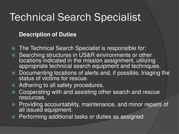Technical Search Specialist