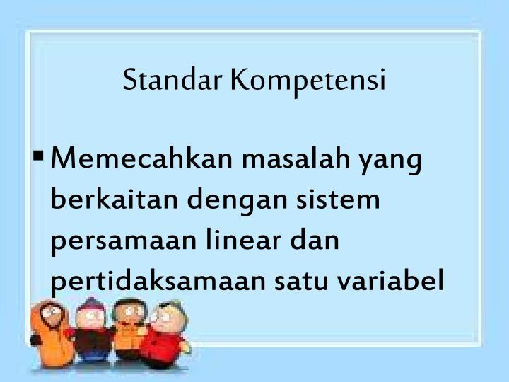 Standar Kompetensi