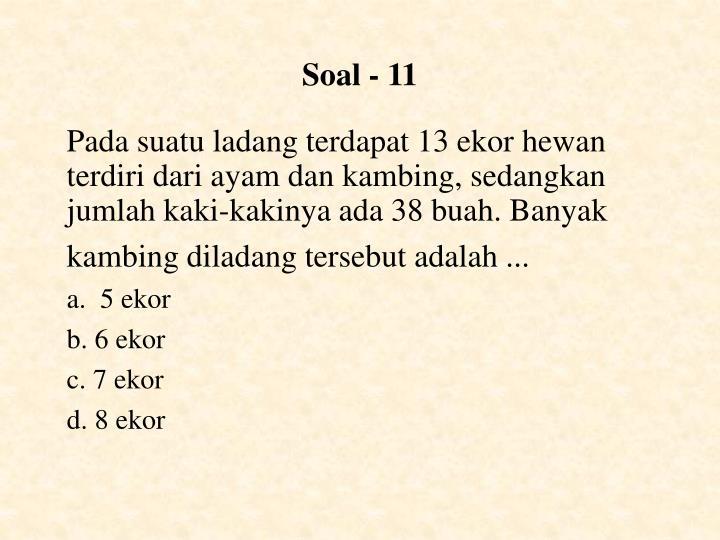 Soal - 11