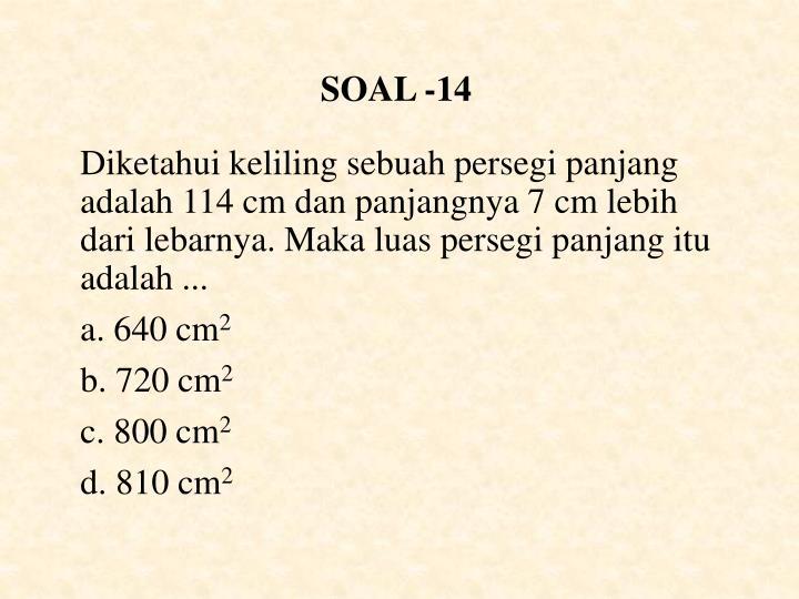 SOAL -14