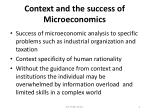 context and the success of microeconomics
