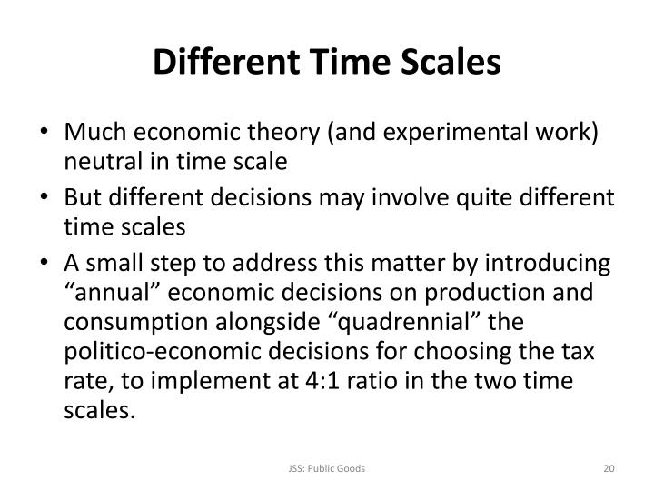 Different Time Scales